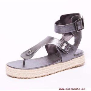 BCBG Faux Leather Sandals